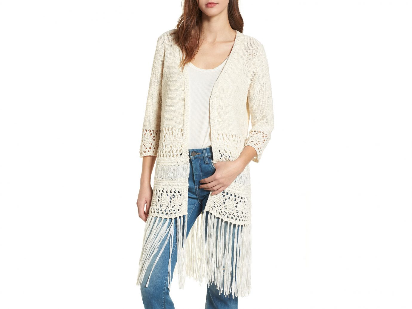 Style + Design Travel Shop clothing person outerwear standing cardigan posing sleeve