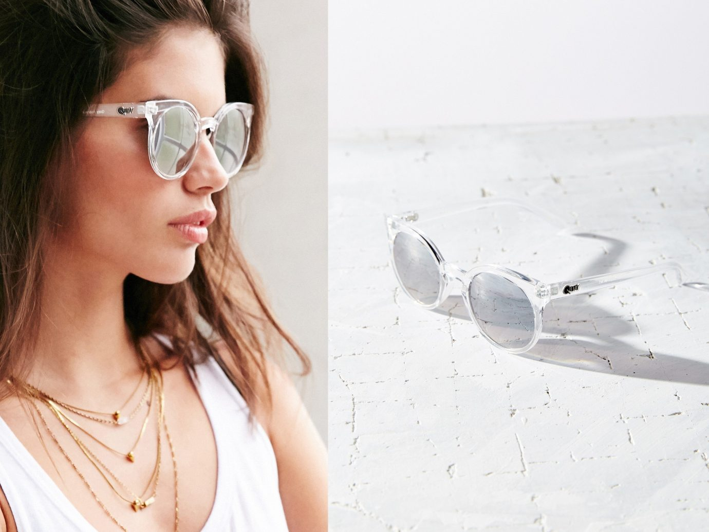 Style + Design person eyewear woman sunglasses glasses vision care white Beauty skin spring photo shoot spectacles