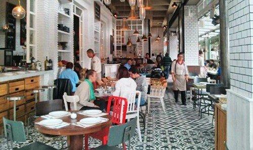 Food + Drink indoor floor restaurant meal dining table