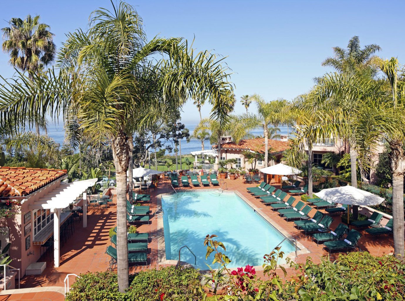 Outdoor Pool At La Valencia Hotel In San Diego, Ca, USA
