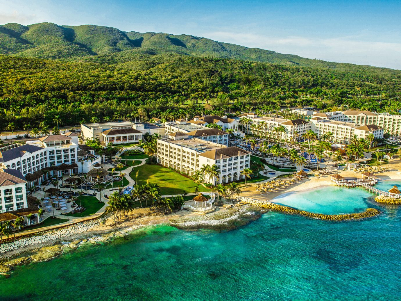Hotels sky mountain outdoor bird's eye view aerial photography geographical feature landmark Town estate scene Harbor Resort tourism vacation Sea park surrounded