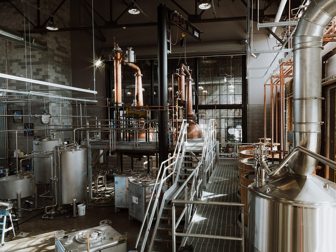 Food + Drink indoor brewery industry metal factory cooking