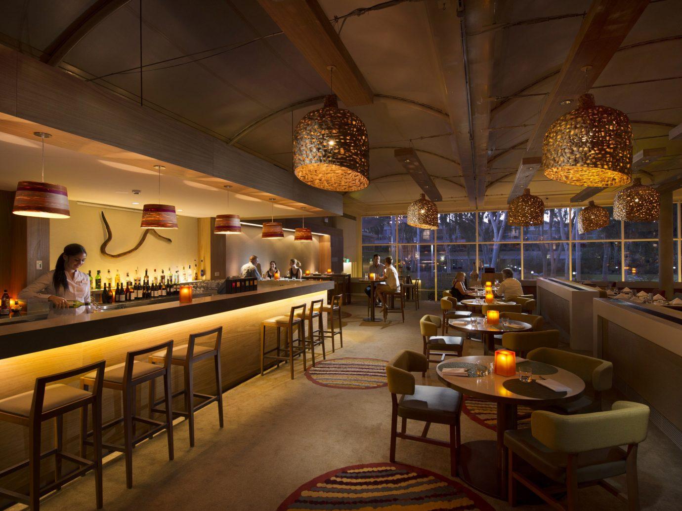 Hotels Offbeat indoor ceiling restaurant interior design function hall Bar several