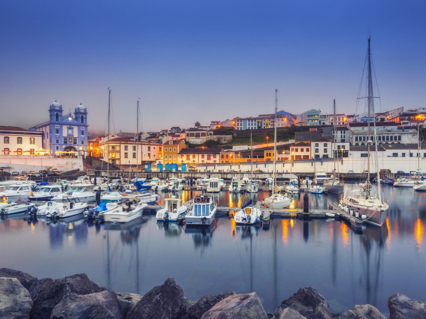 Portugal Trip Ideas marina Harbor reflection water sky port dock City evening Sea Boat morning cityscape watercraft dusk horizon Ocean channel tourism