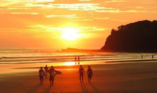 Trip Ideas outdoor water sky Beach Sunset walking horizon Coast sunrise shore afterglow Ocean Sea dawn Nature morning evening people dusk Sun wind wave wave cape sandy