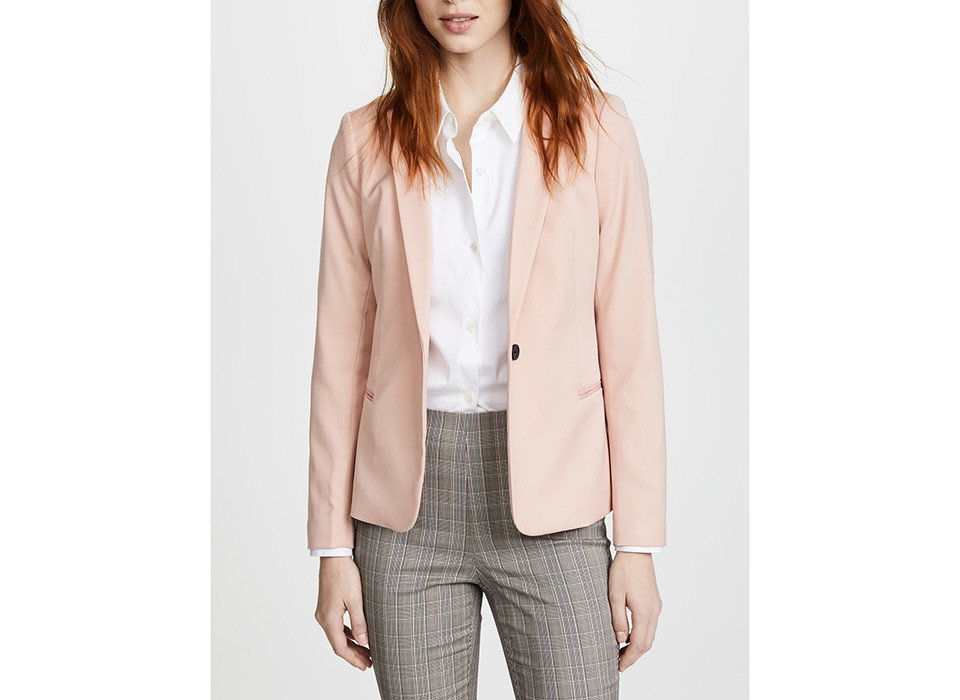 Style + Design Travel Shop person clothing blazer jacket posing formal wear outerwear standing suit wearing fashion model tuxedo sleeve peach top neck button