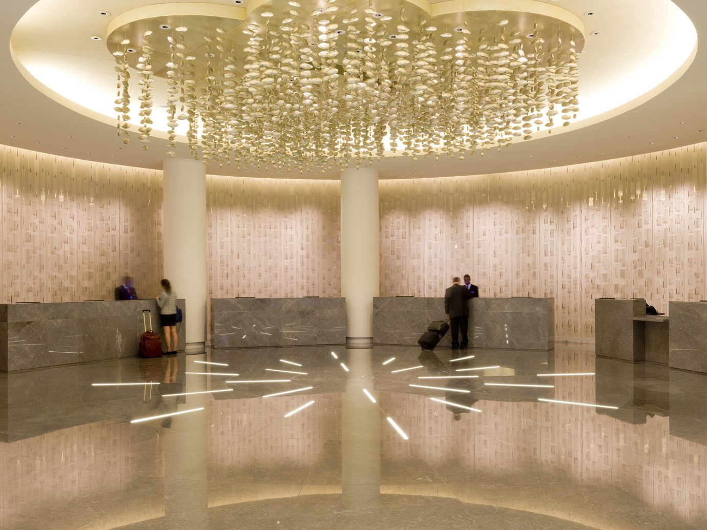 Hotels indoor ceiling Architecture interior design daylighting fountain estate jacuzzi leisure centre amenity swimming pool water basin bathroom
