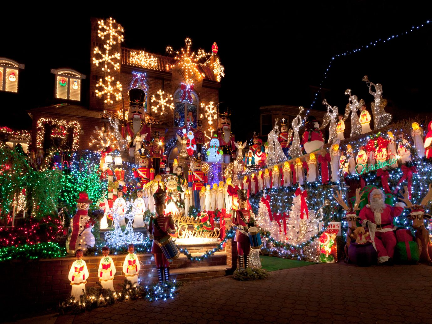 Offbeat christmas lights christmas decoration Christmas Sport dancer festival holiday night colorful decorated line colored