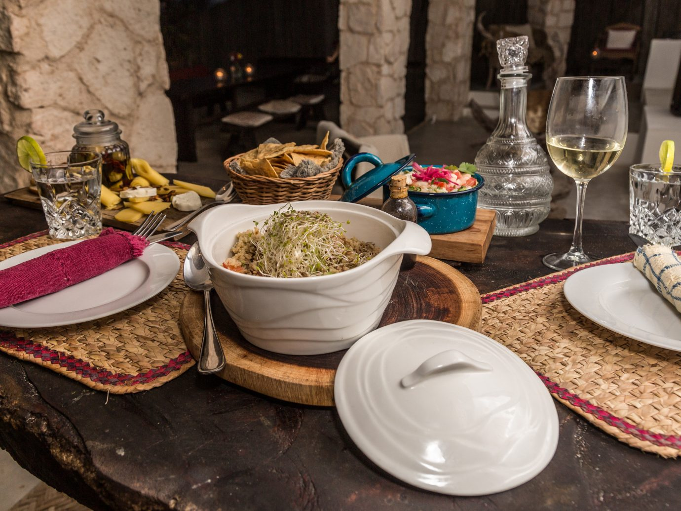 Boutique Hotels Hotels Mexico Tulum meal food tableware brunch table dish breakfast cuisine supper meat