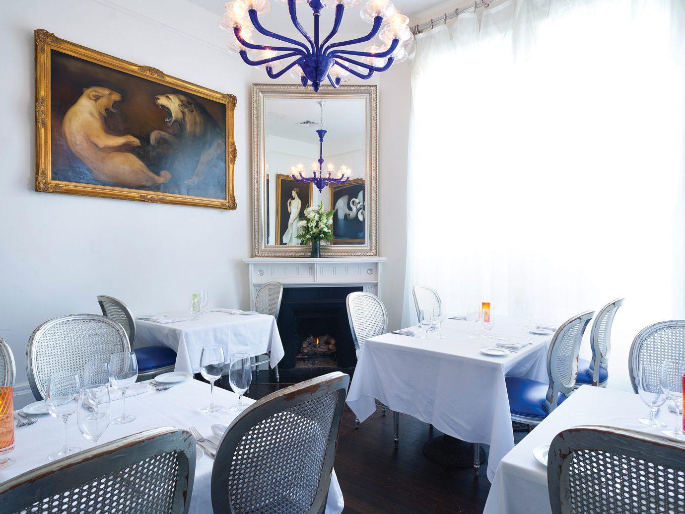 Food + Drink indoor room restaurant table interior design dining room furniture decorated
