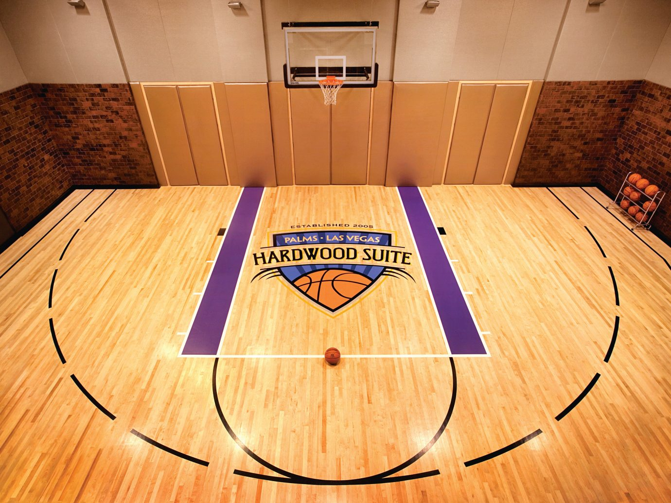 Private basketball court in the Hardwood Suite, Palms Casino Resort