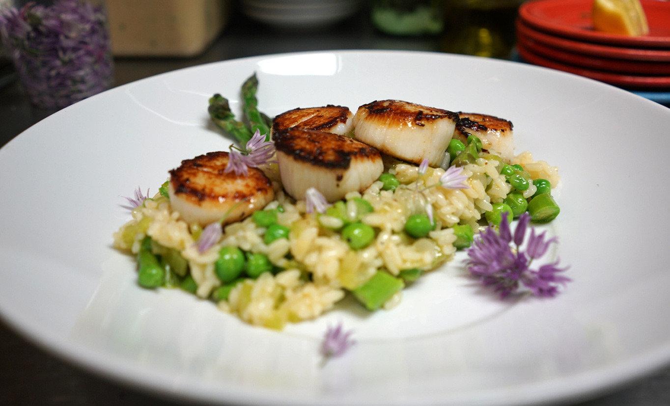 Secret Getaways Trip Ideas plate food table dish white cuisine risotto produce Seafood meal vegetable meat arranged fried rice piece de resistance