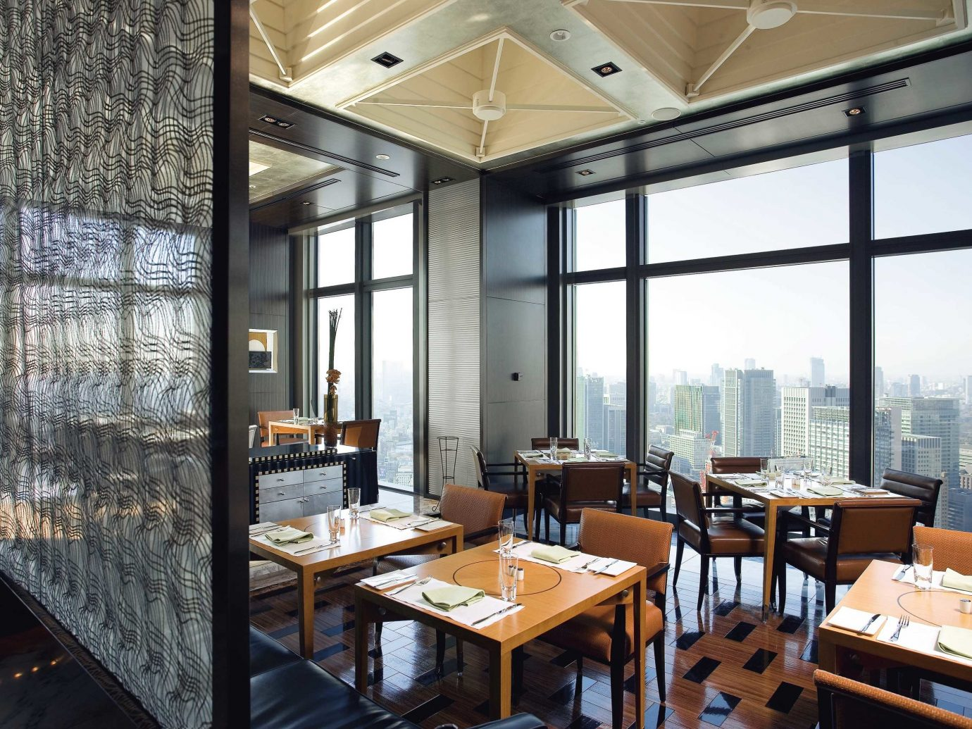 City Dining Drink Eat Elegant Hotels Luxury Modern Scenic views window table indoor property room interior design restaurant real estate Design office condominium window covering overlooking furniture