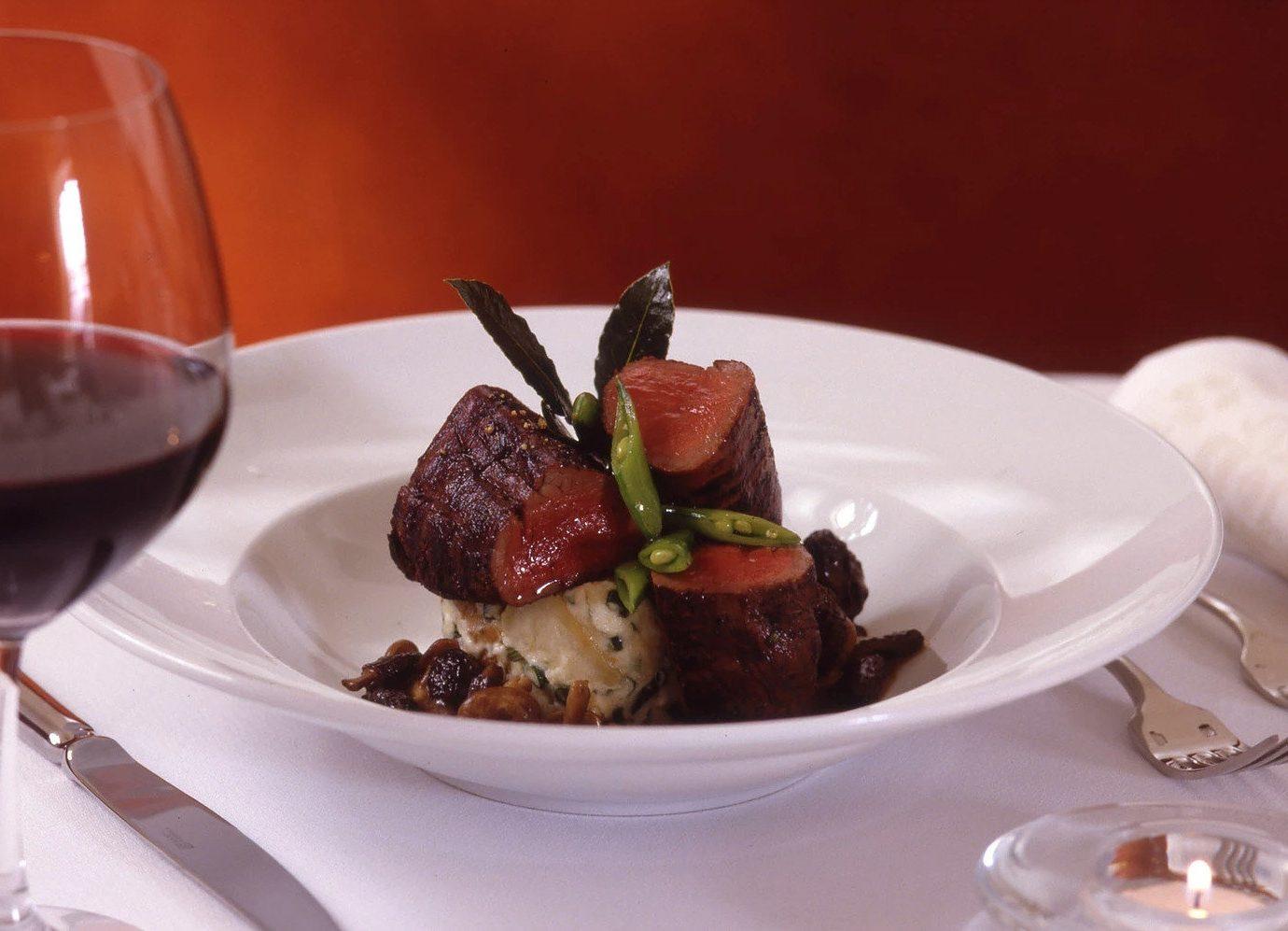 Trip Ideas plate table food dish meat meal white cuisine produce restaurant sense dessert piece de resistance