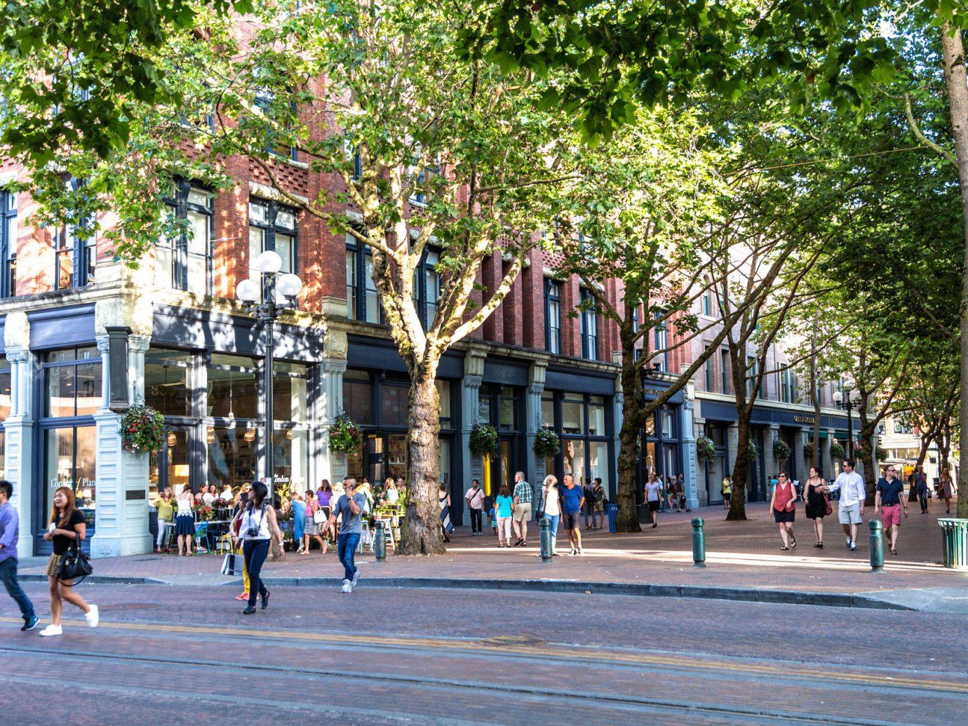 Busy street in Seattle, WA