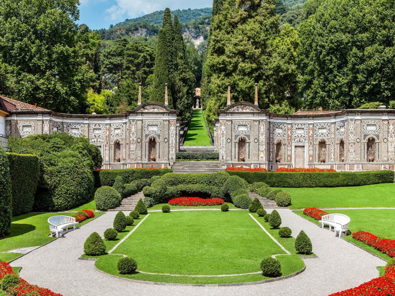 europe Trip Ideas Garden Nature green estate grass stately home château national trust for places of historic interest or natural beauty plant lawn tree landscape botanical garden mansion palace landscaping shrub historic site hedge Villa