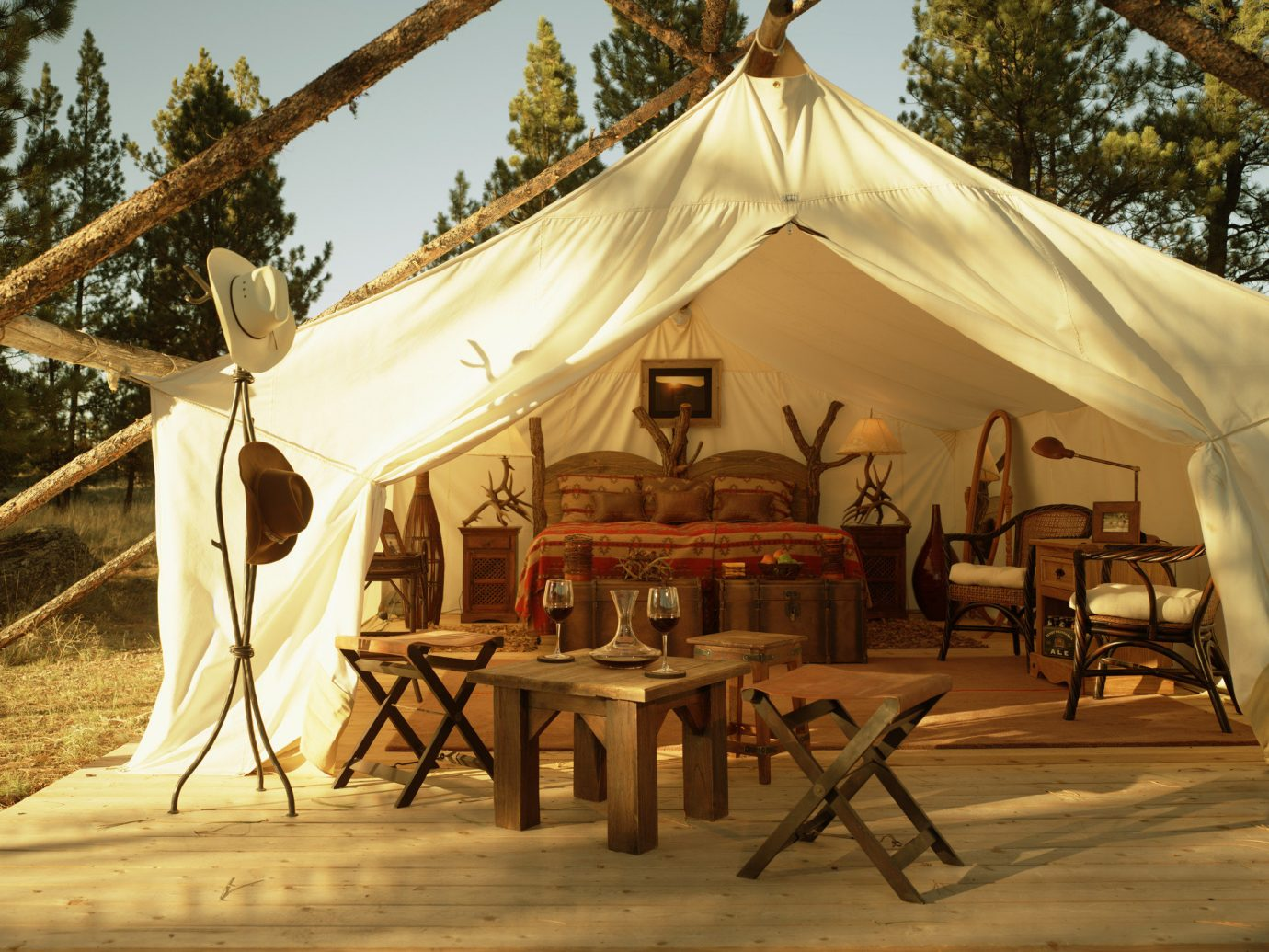 Beauty Bedroom Luxury Nature Outdoors remote Rustic tent tents wilderness chair outdoor outdoor object