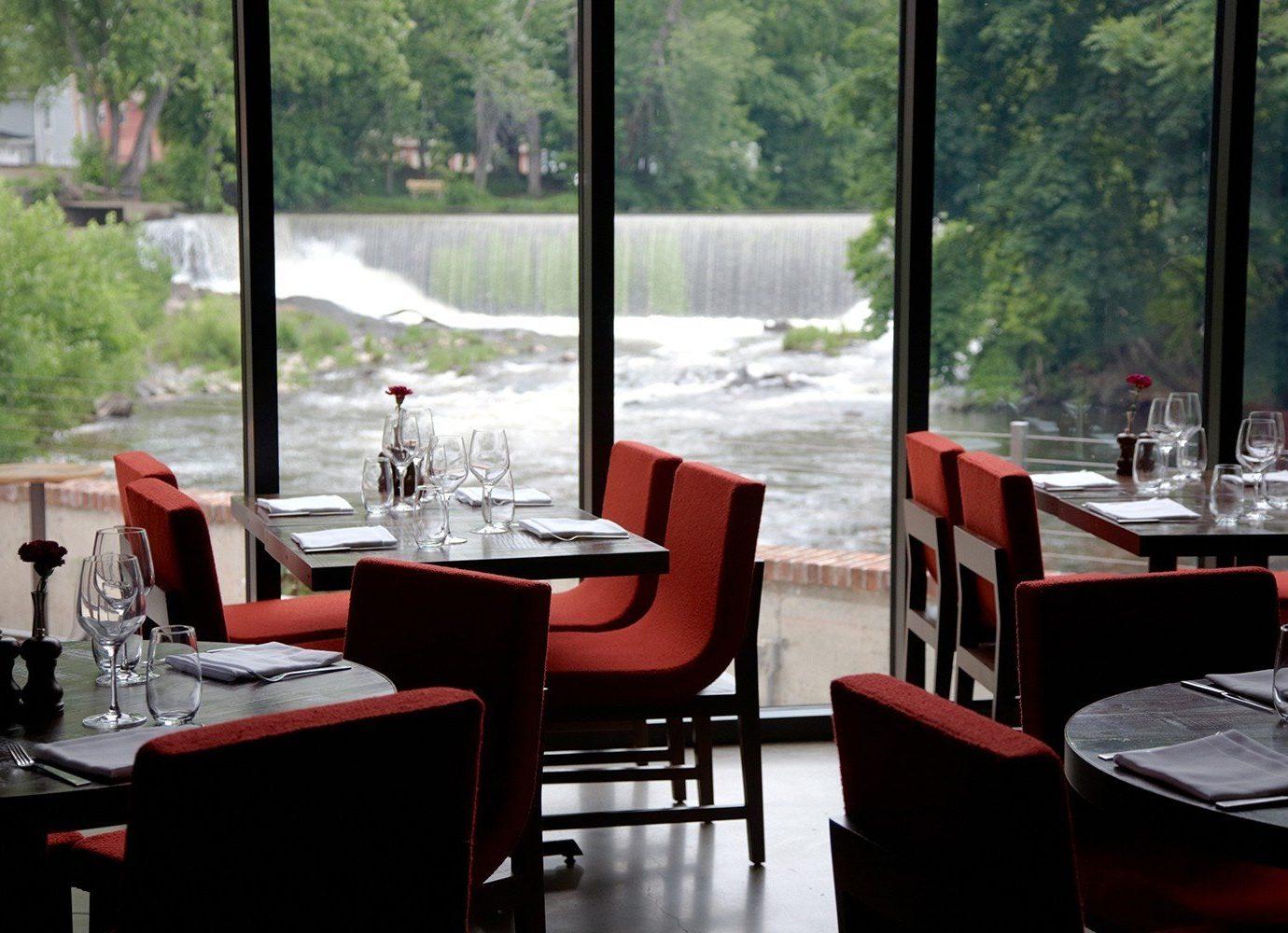 Trip Ideas window indoor table restaurant room meal interior design Bar Design dining room overlooking area dining table furniture