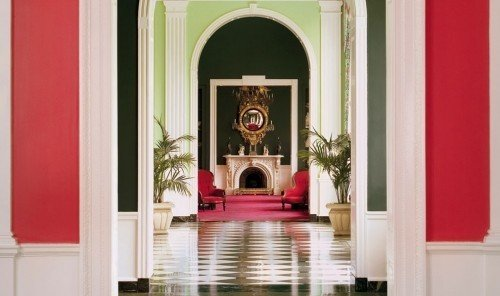 Hotels window red room altar white interior design home door living room chapel hall painted