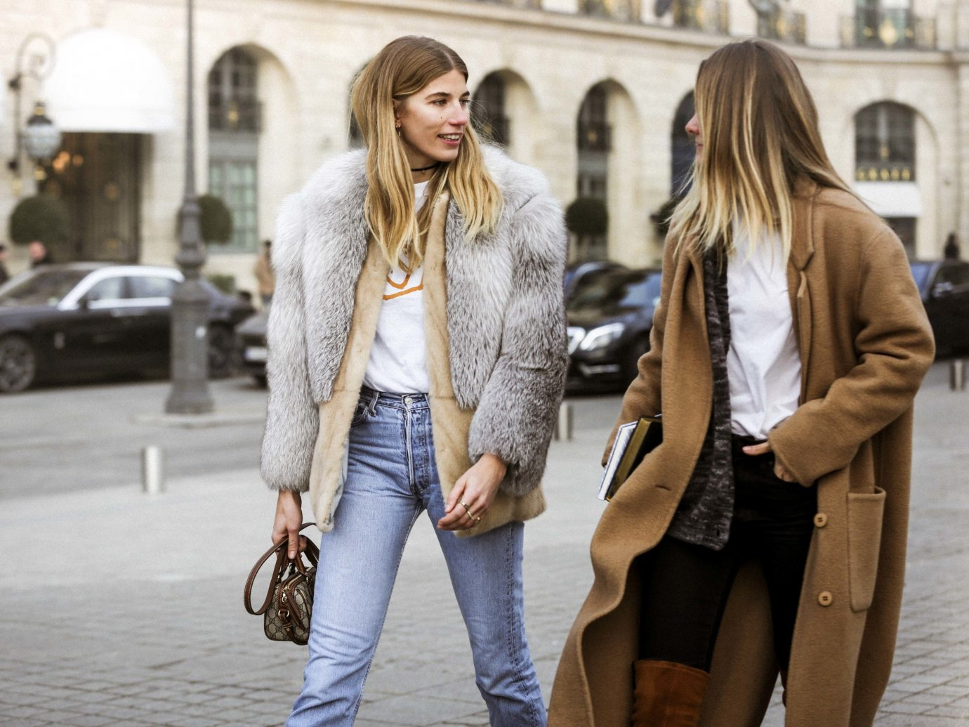 Arts + Culture Hotels Style + Design Trip Ideas person outdoor building woman ground clothing street footwear sidewalk jacket leather fur Winter outerwear fashion fur clothing jeans denim textile spring coat City material