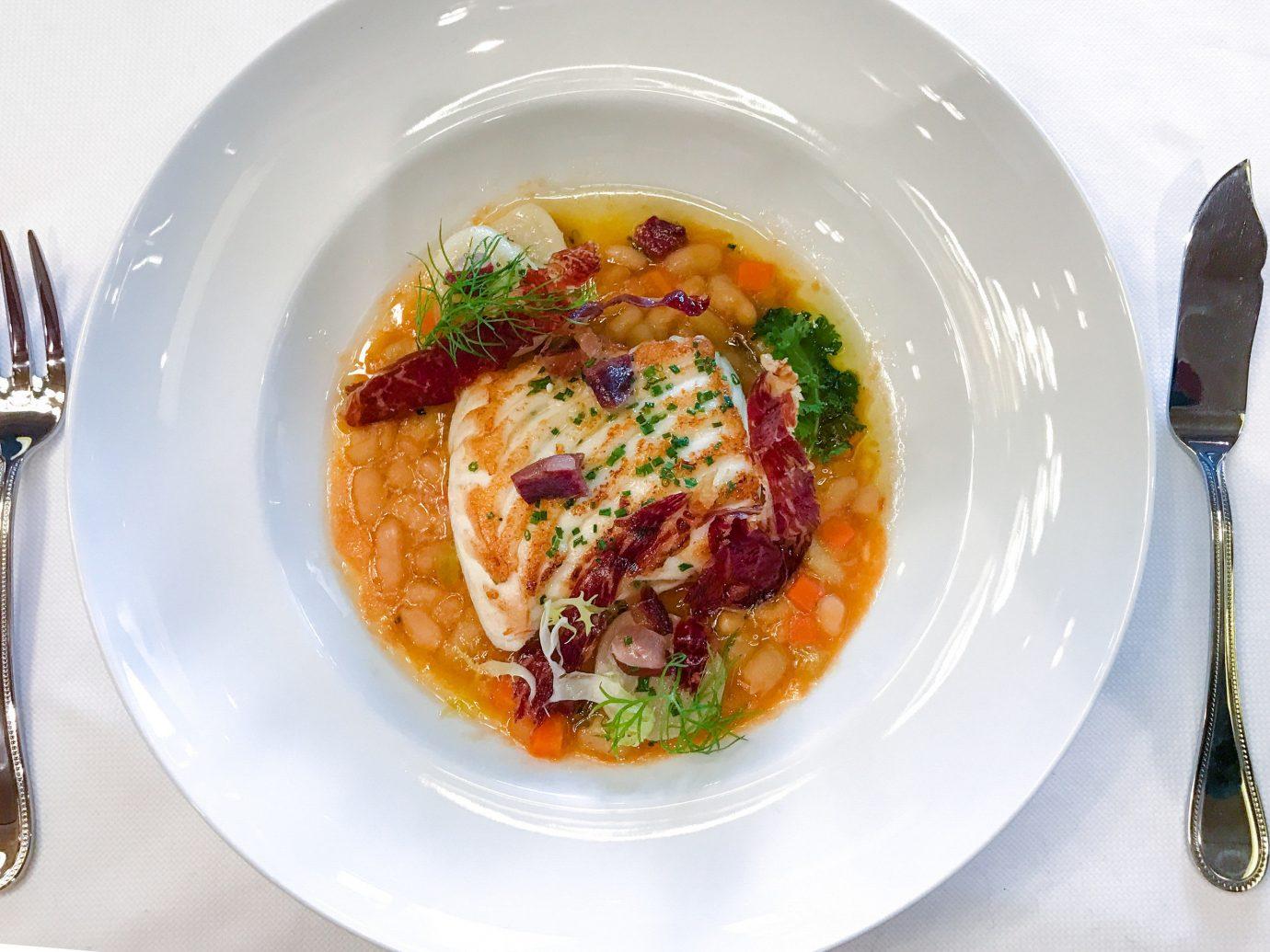 Trip Ideas Weekend Getaways plate food table dish white meal produce fish cuisine vegetable breakfast meat spaghetti piece de resistance