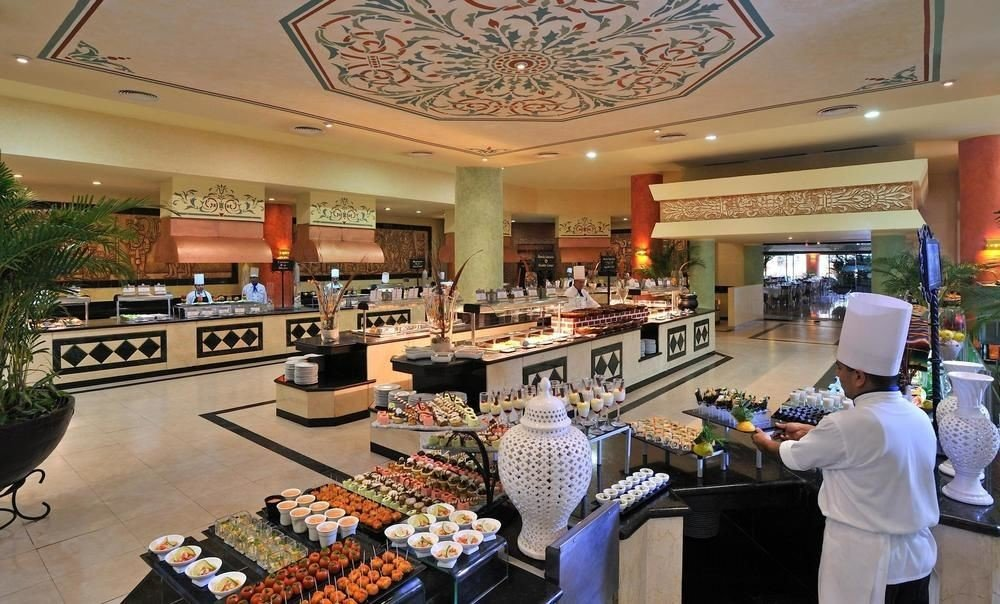 All-Inclusive Resorts Family Travel Hotels indoor ceiling person buffet food table several