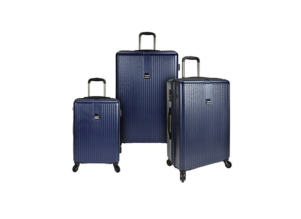 U.S. Traveler Sparta Luggage Set, Packing Tips Style + Design Travel Shop luggage suitcase product trouser press product design appliance electric blue luggage & bags