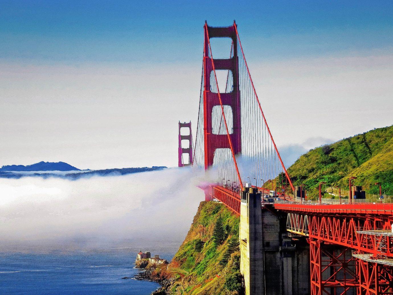 Trip Ideas outdoor sky water landmark Coast Sea vacation bridge River tower vehicle Lake