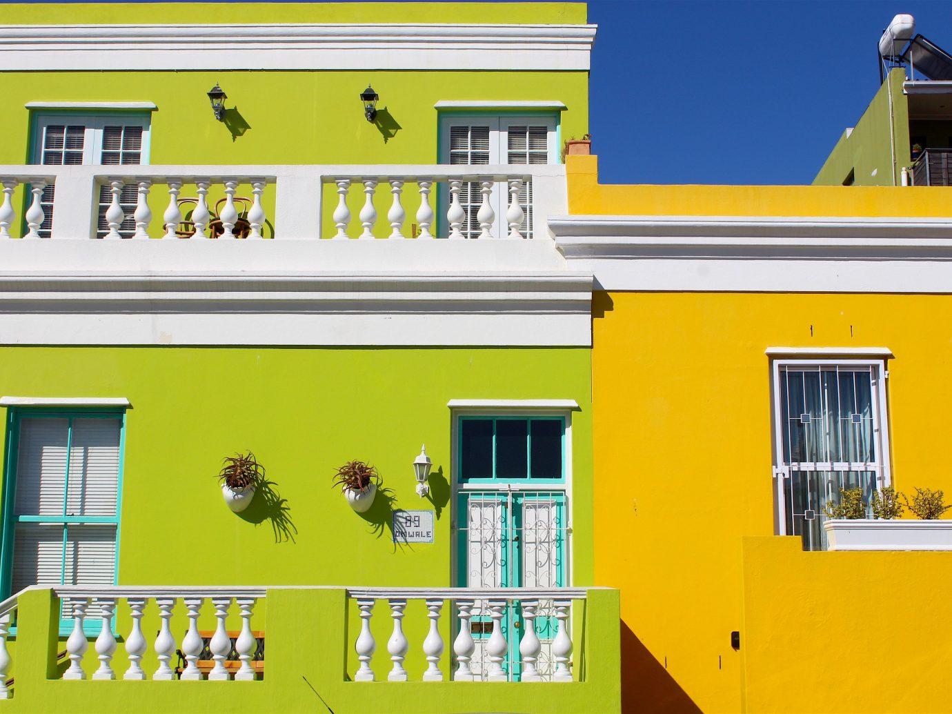 Trip Ideas yellow house building home facade interior design