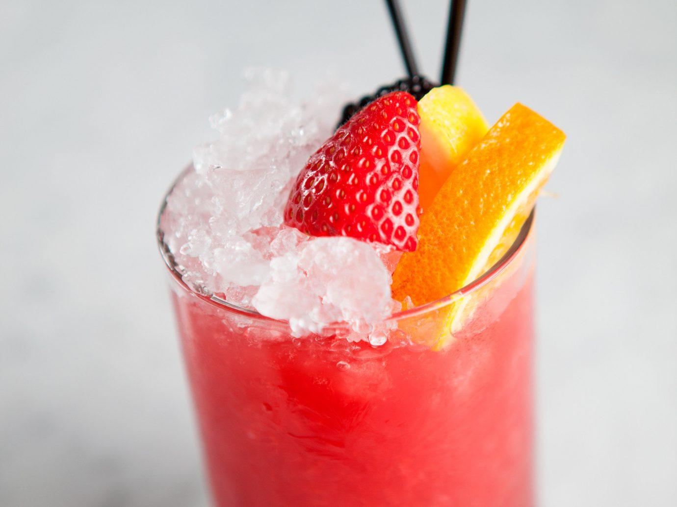 Food + Drink food Drink cocktail beverage produce alcoholic beverage non alcoholic beverage slush fruit strawberry mai tai strawberries orange pink lady fruit drink