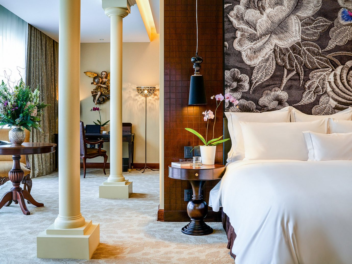 Hotels Romance indoor room interior design home furniture Suite living room window flooring ceiling decorated