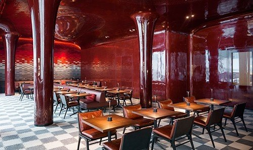 Trip Ideas table chair floor indoor restaurant Bar Dining function hall café interior design meal dining table
