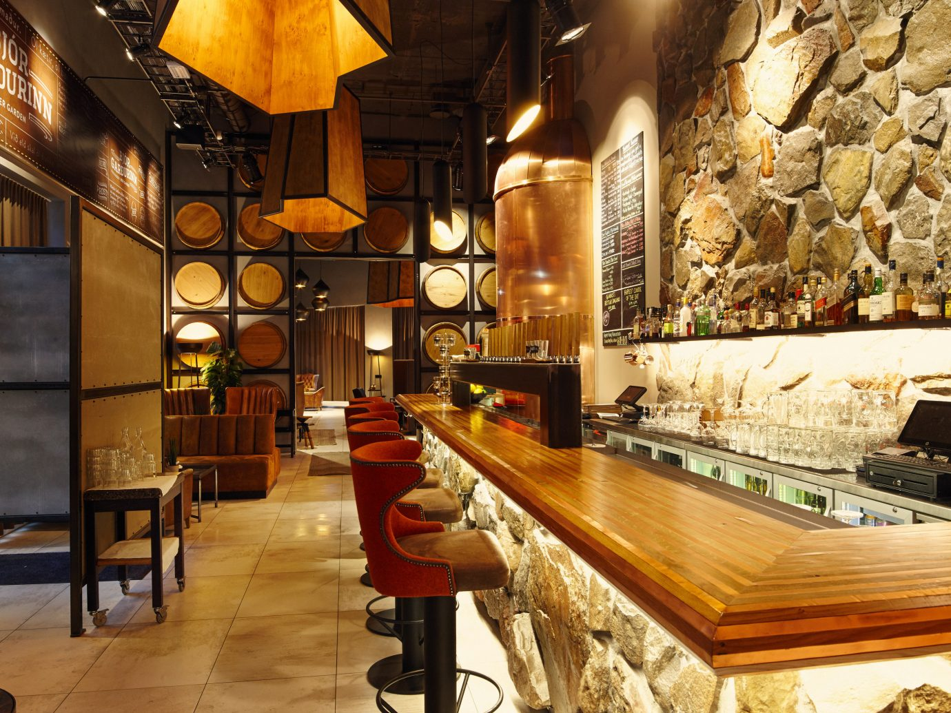 Boutique Hotels Hotels Iceland Reykjavík table indoor floor interior design restaurant café area furniture cluttered