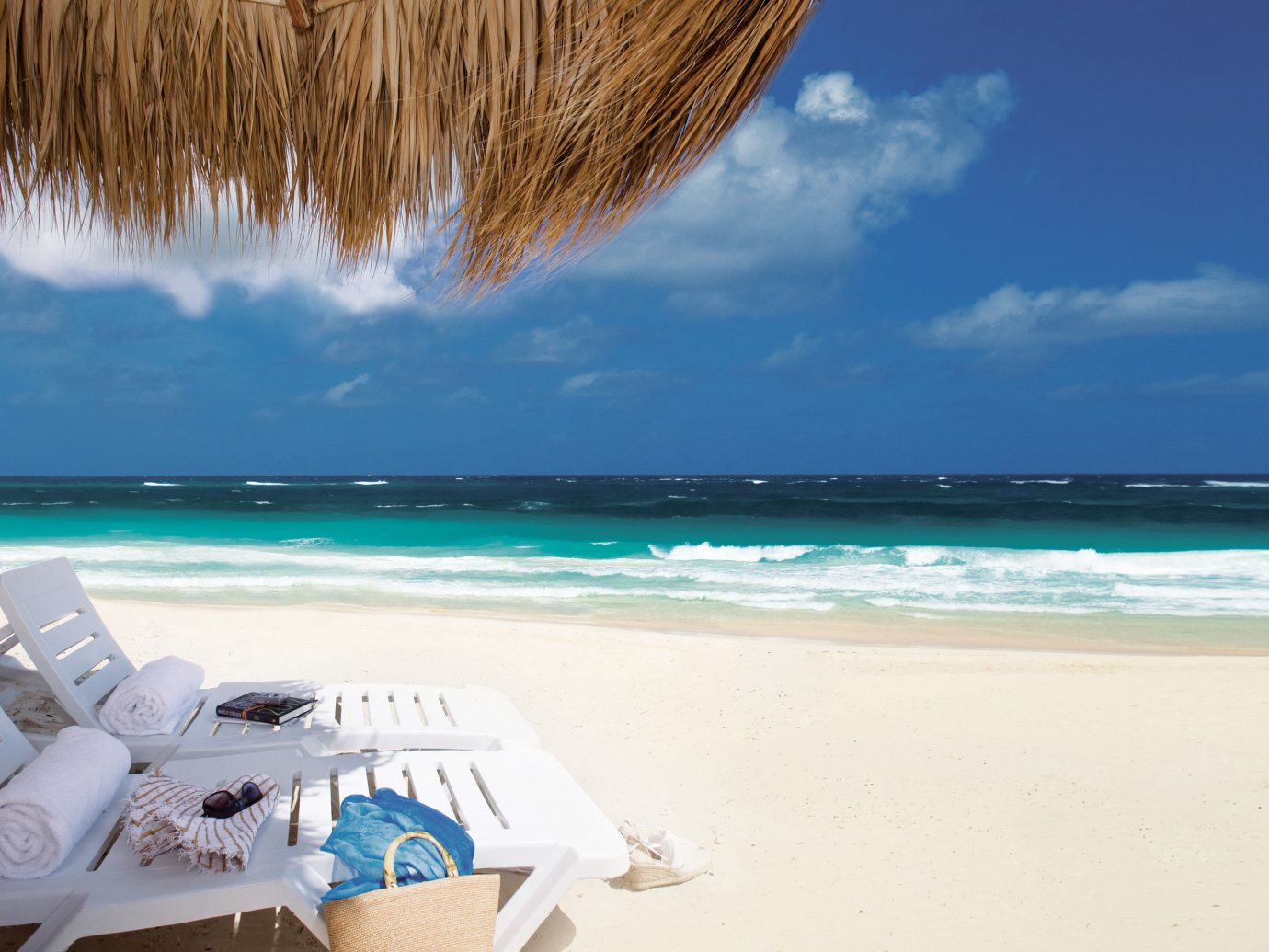 Beach Beachfront Hotels Living Lounge Ocean Style + Design Trip Ideas sky outdoor water shore Sea caribbean body of water vacation Coast sand Nature wind wave cape Lagoon bay Island wave sandy