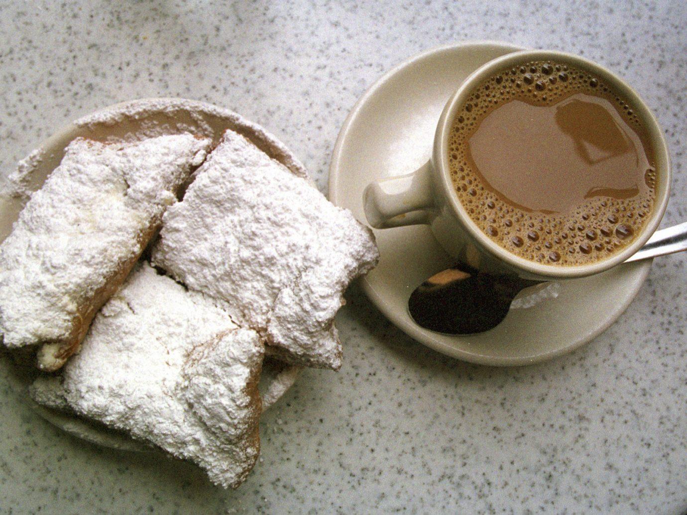 Girls Getaways New Orleans Trip Ideas Weekend Getaways cup coffee food breakfast meal dessert Drink flavor baking slice