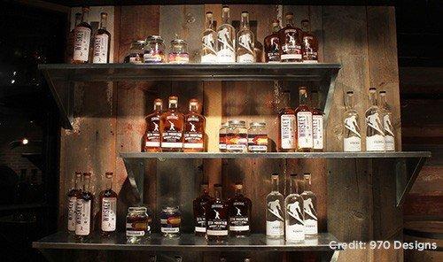 Food + Drink indoor Bar shelf distilled beverage lots Drink counter different several