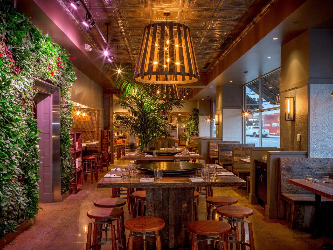 Food + Drink table indoor restaurant interior design café tavern several
