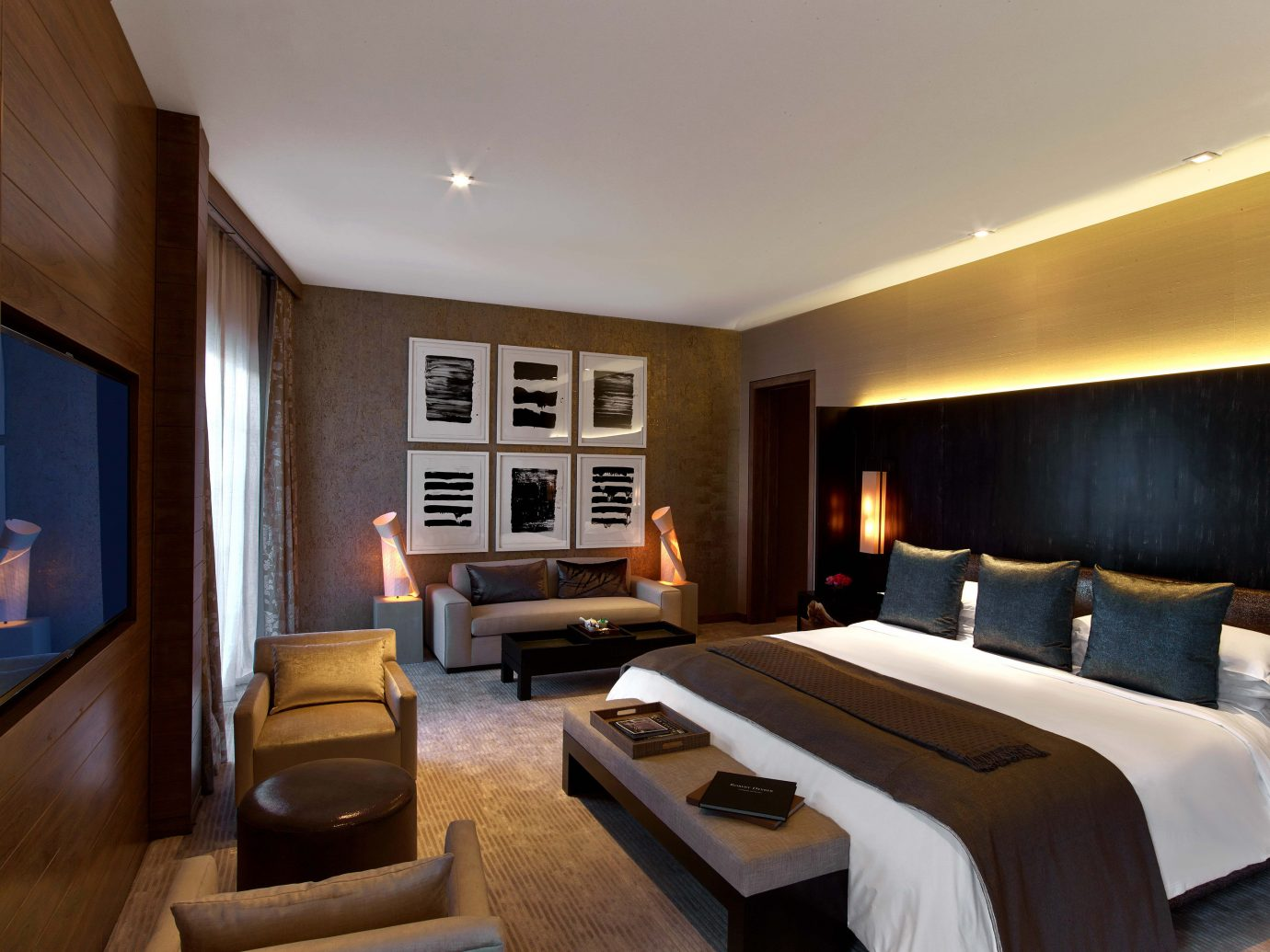 bedroom at The Nobu Villa suite at the Nobu Hotel in Las Vegas