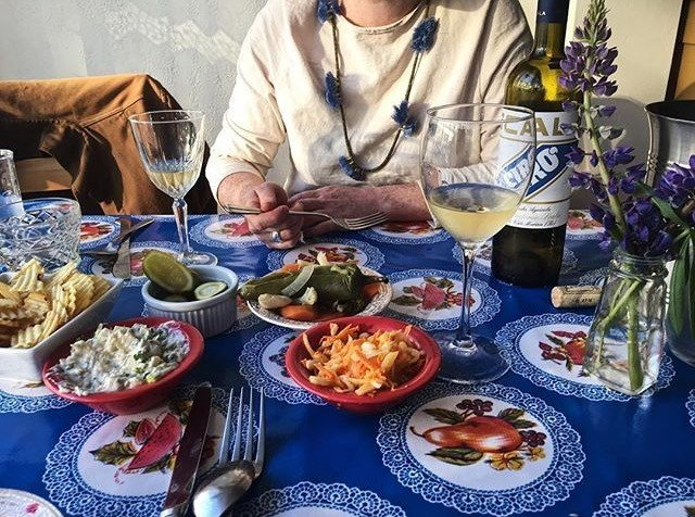 Influencers + Tastemakers person table food meal plate brunch dish cuisine supper breakfast lunch tableware dinner Drink asian food drinking eating dining table