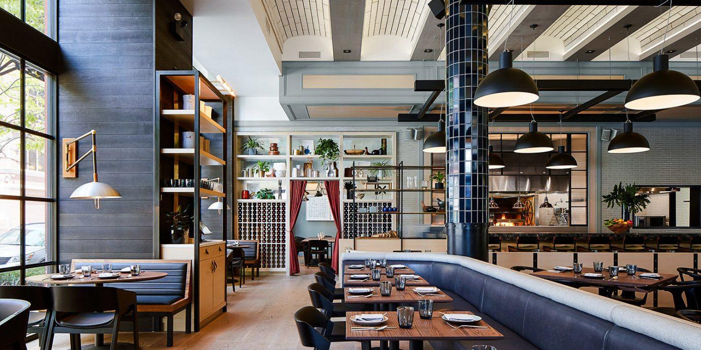 Food + Drink indoor chair room interior design restaurant café furniture