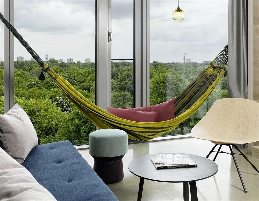 Hotels window leisure furniture room interior design table hammock chair living room seat