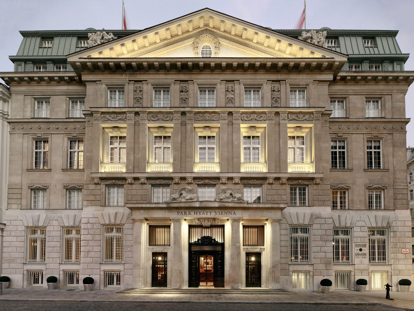 Architecture Austria Elegant europe Exterior Historic Hotels Romantic Vienna building outdoor sky government building classical architecture landmark palace facade opera house plaza estate ancient roman architecture big ancient history tourist attraction synagogue tall