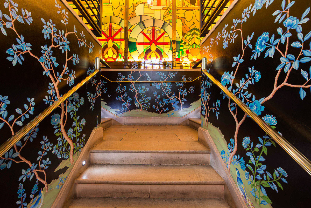 Stairway at China Tang in Mayfair, London