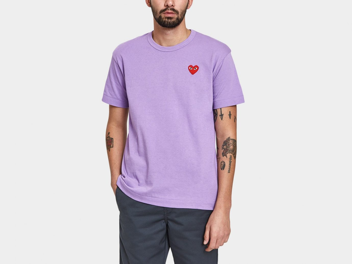 Spring Travel Style + Design Summer Travel Travel Shop man person standing t shirt clothing sleeve purple product shoulder violet neck posing pocket arm magenta long sleeved t shirt active shirt trouser male