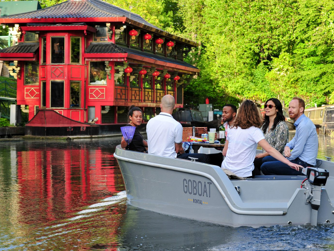 waterway water transportation Boat water plant boating leisure Canal tree recreation vehicle tourism watercraft rowing