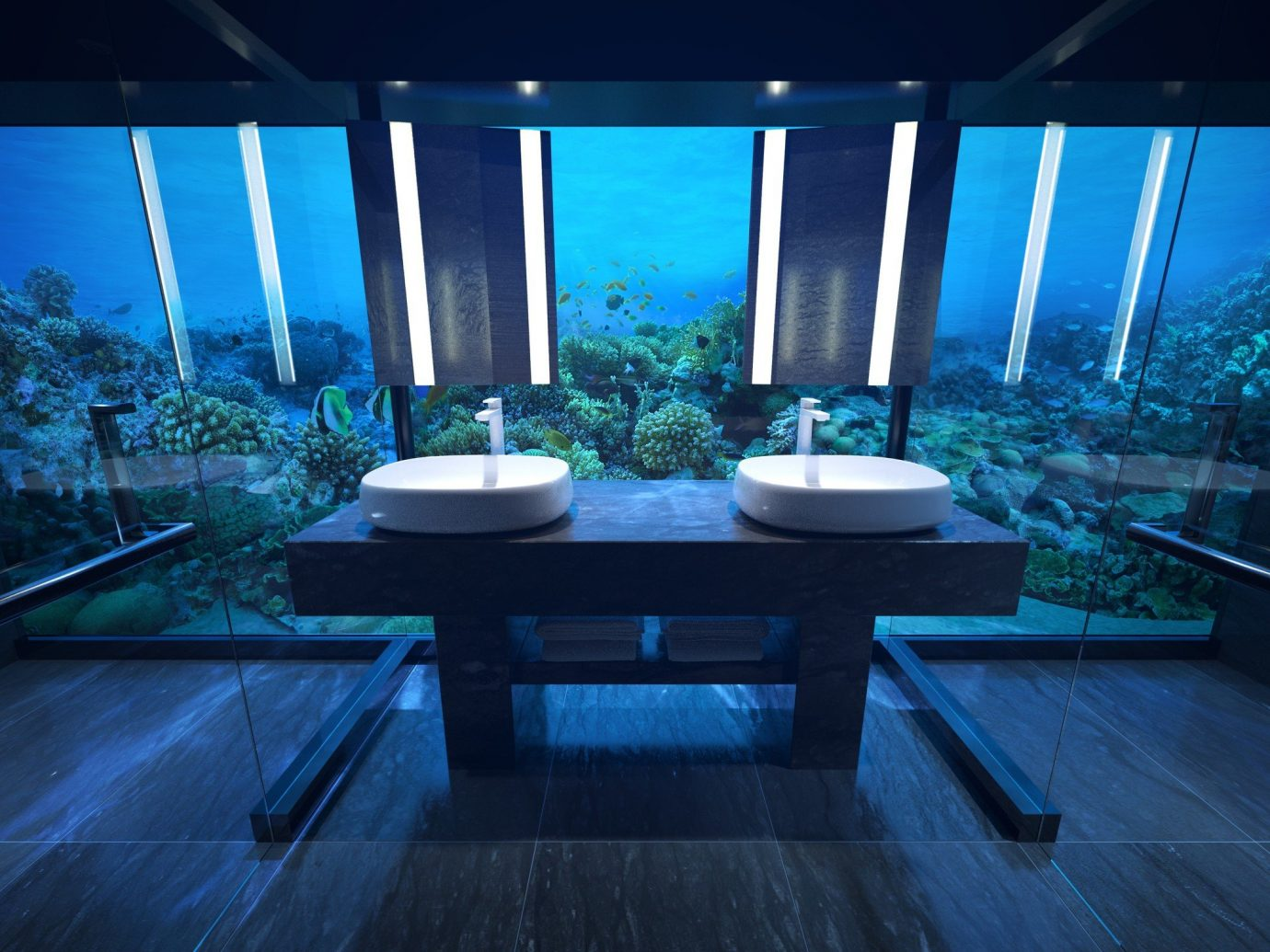 asia Beach Hotels Islands Maldives News Architecture lighting water interior design computer wallpaper swimming pool