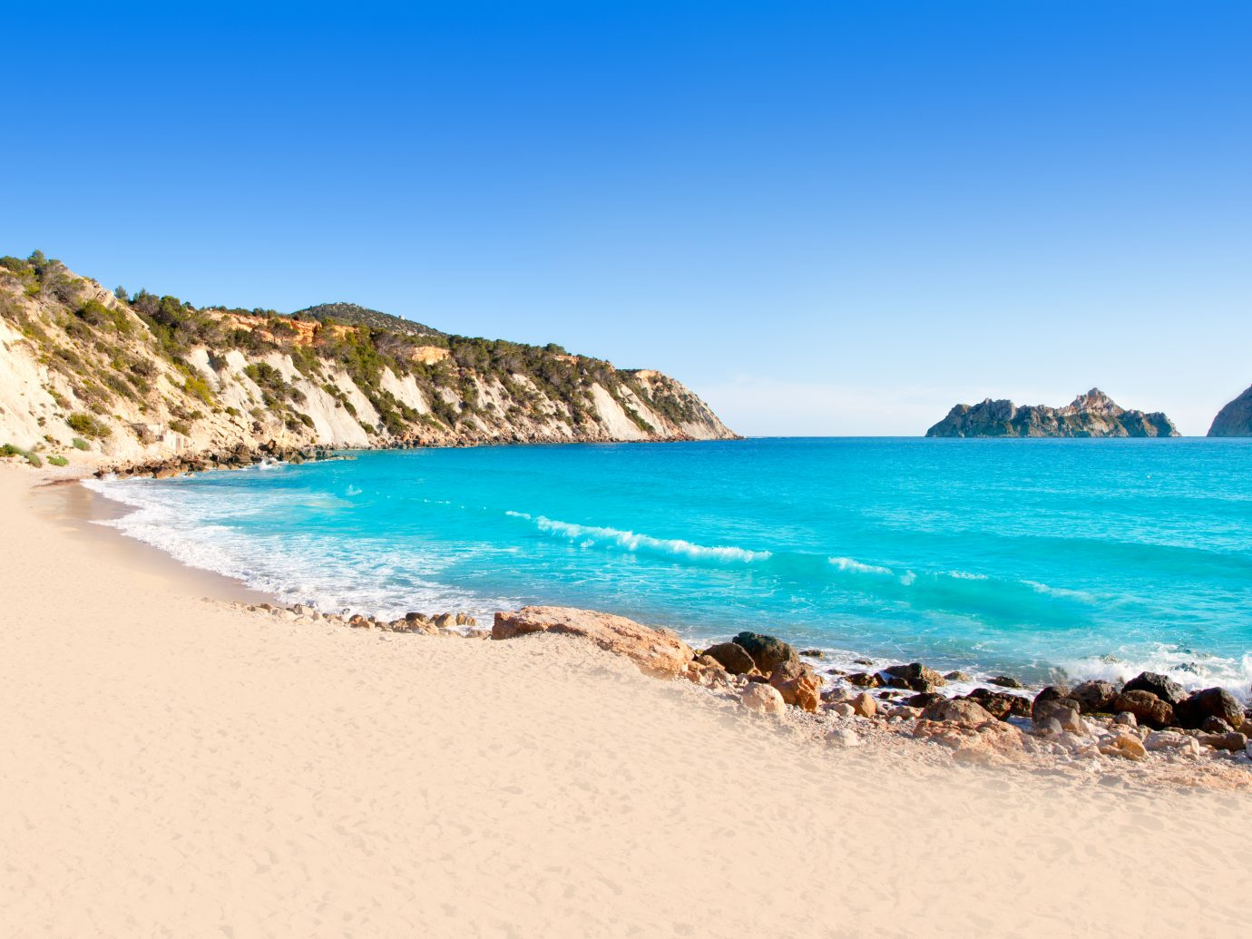 Ibiza view from Cala d Hort