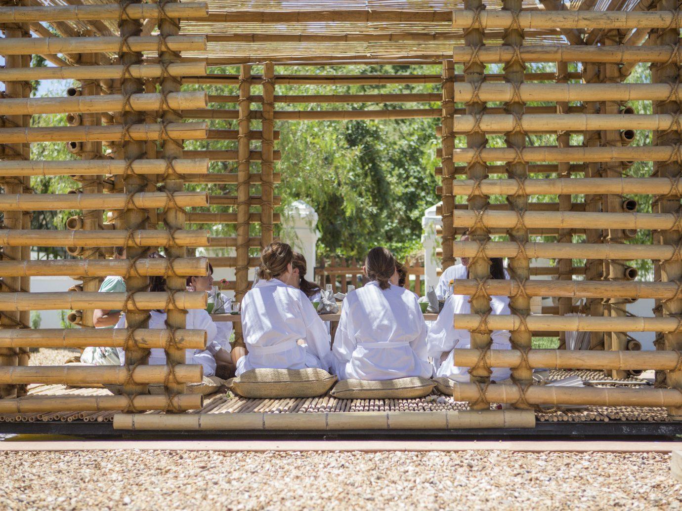 Babylonstoren; building window blind wood temple tree window