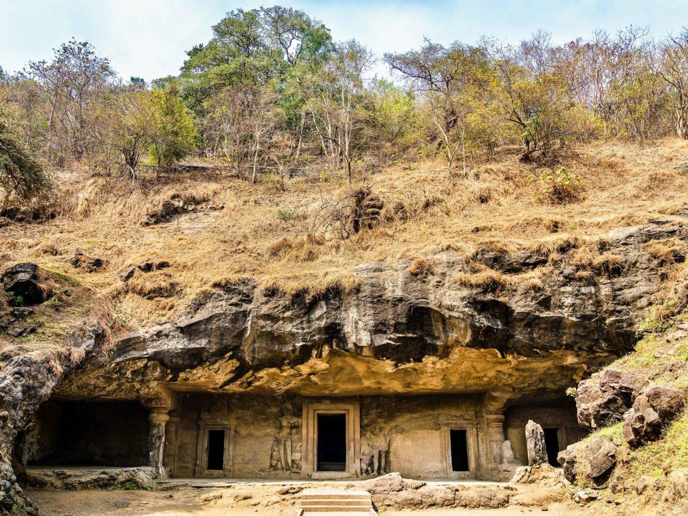 India archaeological site rock Ruins historic site outcrop geology bedrock formation escarpment plant community landscape ancient history