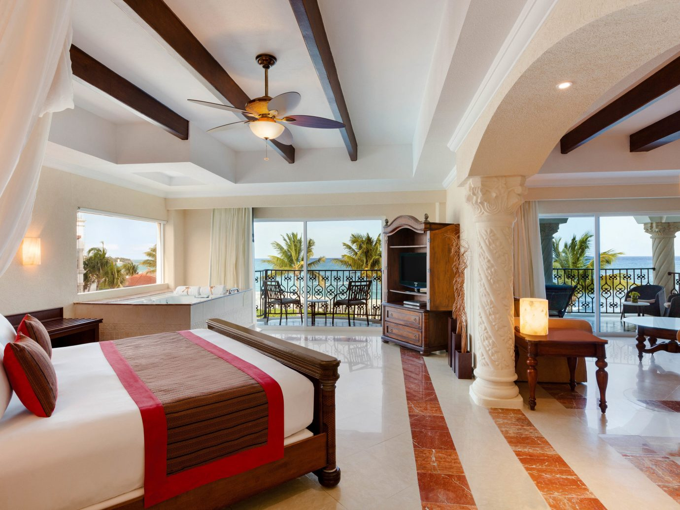 All-inclusive All-Inclusive Resorts Mexico Riviera Maya, Mexico indoor floor wall room Living ceiling window estate interior design furniture real estate Suite living room Resort white penthouse apartment Villa decorated nice hotel Modern Bedroom wood